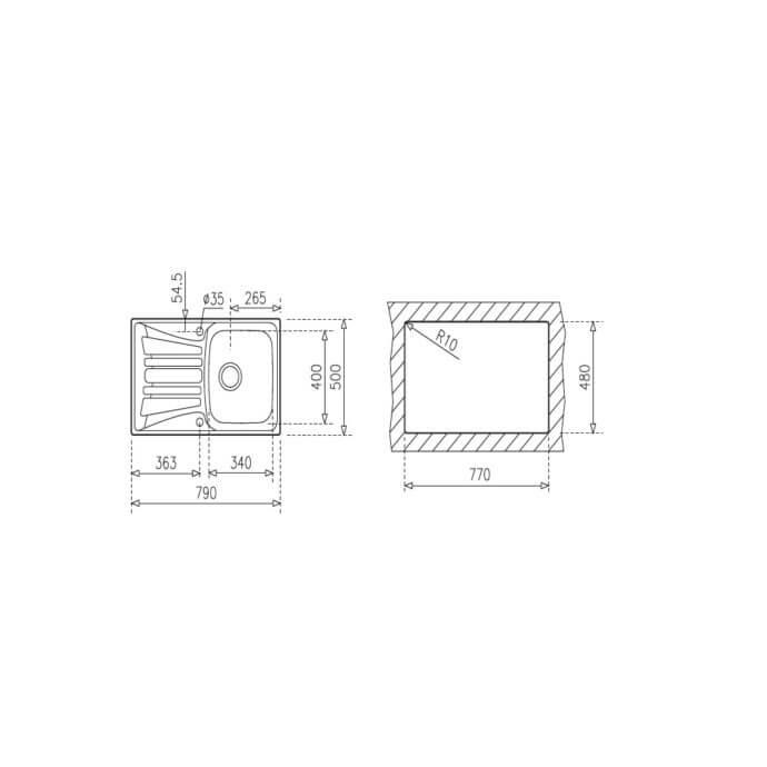 TEKA BASICO 79 1C 1E (79x50) 2