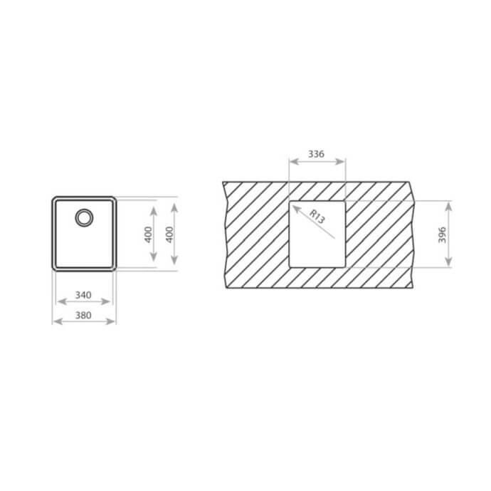 TEKA BE LINEA 34.40 R15 (38x44) 3