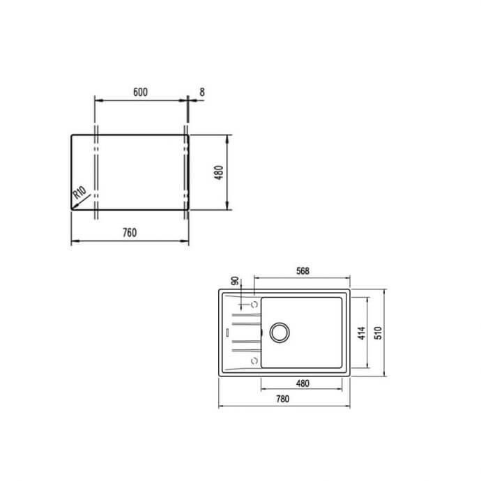 TEKA ΝΕΡΟΧΥΤΗΣ TEGRANITE STONE 60 S-TG 1B 1D SAND BEIGE (78X51) 2