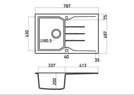 SANITEC ULTRA GRANITE No 807 1B 1D OCRA (79X50) 2
