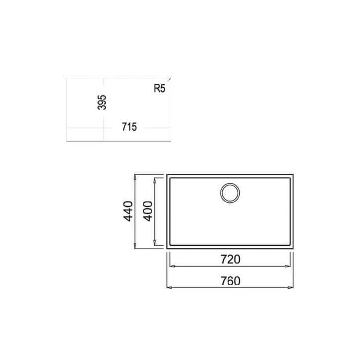 TEKA ΝΕΡΟΧΥΤΗΣ TEGRANITE SQUARE 72.40 TG AVENA BEIGE (76X44) 2