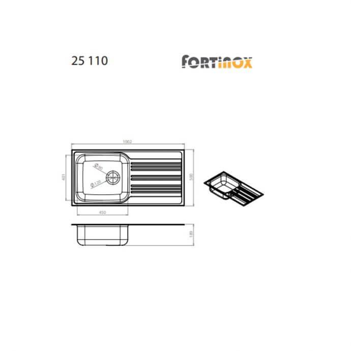 FORTINOX VALLEY ΕΝΘΕΤΟΣ No 25110 ΛΕΙΟ (100x50) 2