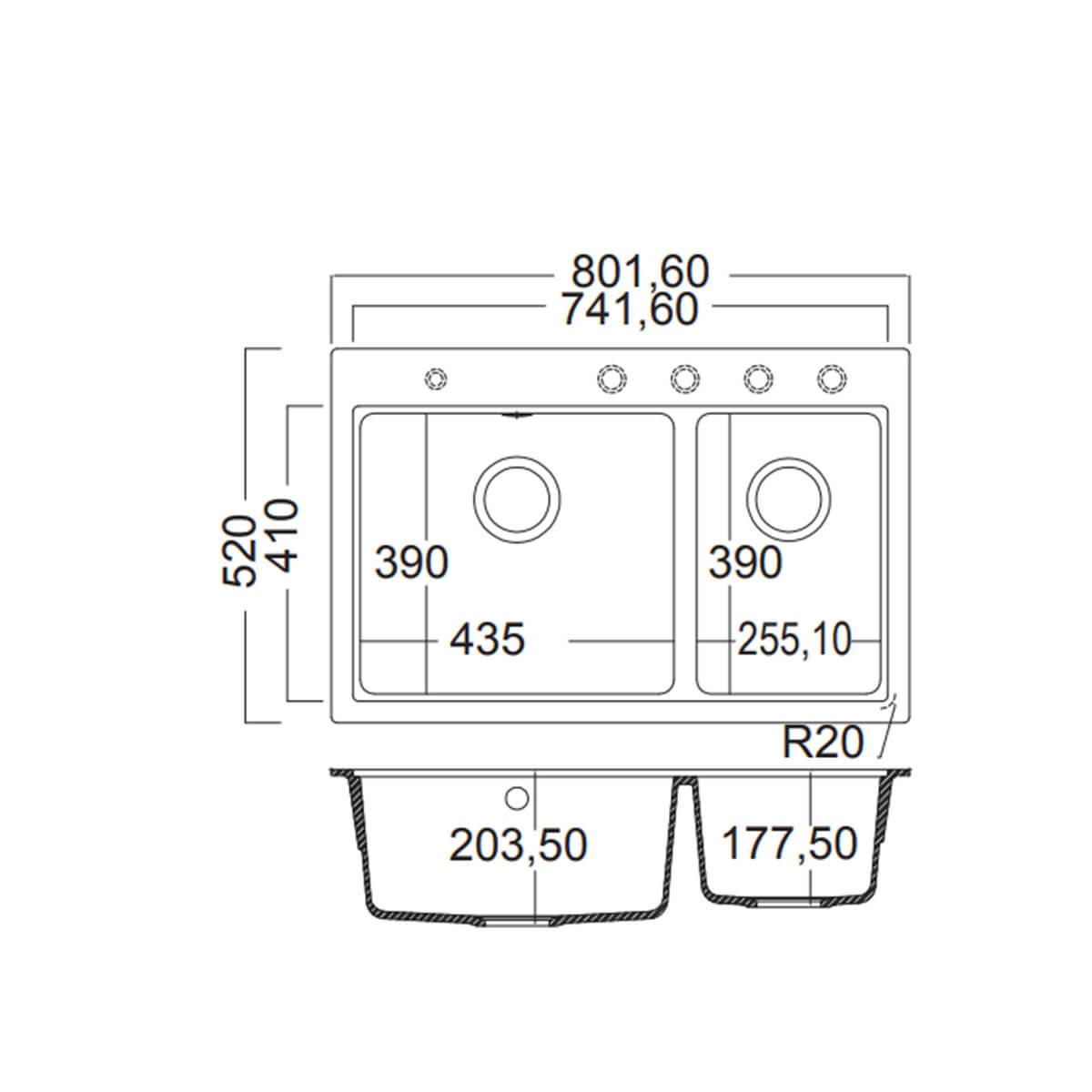 CARRON PHOENIX ΝΕΡΟΧΥΤΗΣ ΕΝΘΕΤΟΣ FIJI No 5200 CAPPUCCINO (80x52) 4