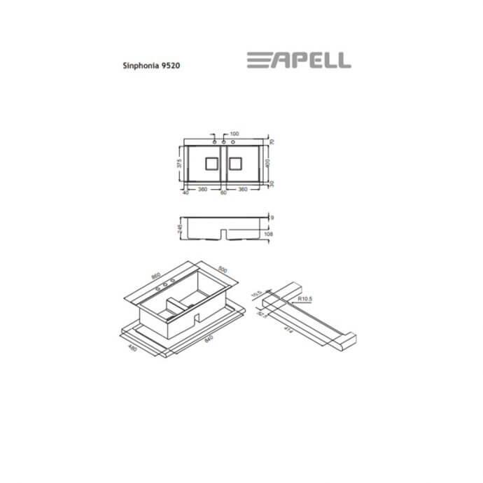 APELL ΕΝΘΕΤΟΣ No 9520 Sinphonia ΛΕΙΟ (86x50) 4