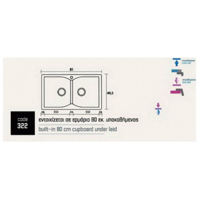 SANITEC ECLECTIC No 322 (81x50) 2