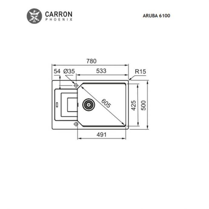 CARRON PHOENIX ARUBA ΕΝΘΕΤΟΣ No 6100 OYSTER METALLIC (78x50) 2