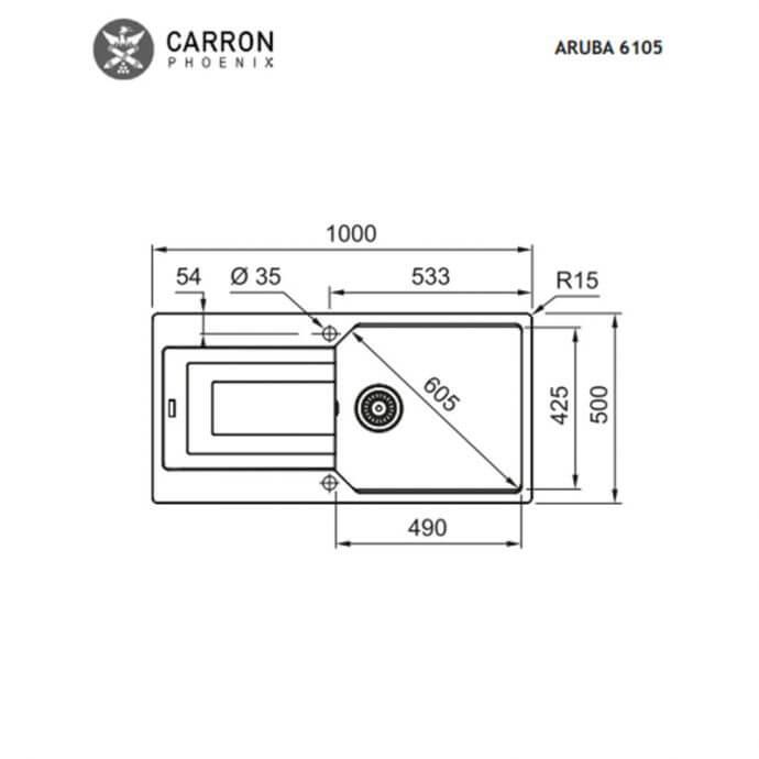 CARRON PHOENIX ARUBA ΕΝΘΕΤΟΣ No 6105 BLACK METALLIC (100x50) 3