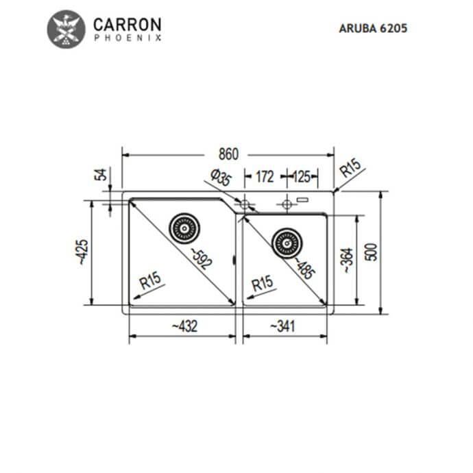 CARRON PHOENIX ARUBA ΕΝΘΕΤΟΣ No 6205 SILVER STONE METALLIC (86x50) 2