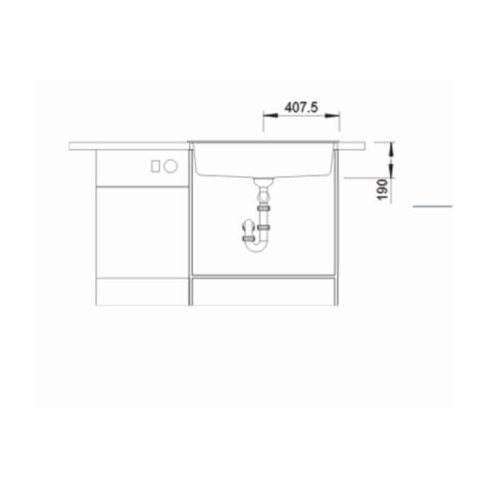 BLANCO ΓΡΑΝΙΤΕΝΙΟΣ ΝΕΡΟΧΥΤΗΣ ΕΝΘΕΤΟΣ DALAGO 8 SILGRANIT PURADUR WHITE (81,5x51) 7