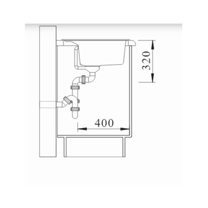 BLANCO ΓΡΑΝΙΤΕΝΙΟΣ ΝΕΡΟΧΥΤΗΣ ΕΝΘΕΤΟΣ DALAGO 8 SILGRANIT PURADUR WHITE (81,5x51) 8