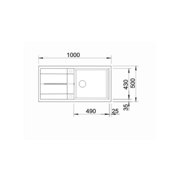 BLANCO ΓΡΑΝΙΤΕΝΙΟΣ ΝΕΡΟΧΥΤΗΣ ΕΝΘΕΤΟΣ ΑΝΤΙΣΤΡΕΦΟΜΕΝΟΣ METRA XL 6 S SILGRANIT PURADUR BETON-STYLE (100x50) 3