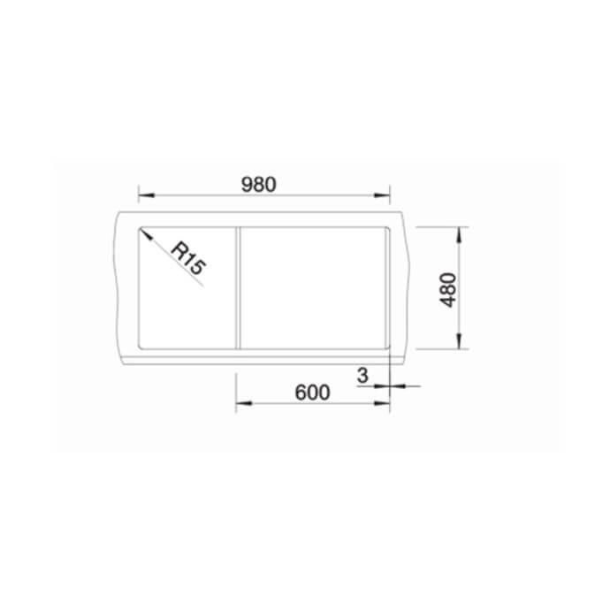BLANCO ΓΡΑΝΙΤΕΝΙΟΣ ΝΕΡΟΧΥΤΗΣ ΕΝΘΕΤΟΣ ΑΝΤΙΣΤΡΕΦΟΜΕΝΟΣ METRA XL 6 S SILGRANIT PURADUR BETON-STYLE (100x50) 4