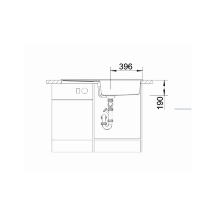 BLANCO ΓΡΑΝΙΤΕΝΙΟΣ ΝΕΡΟΧΥΤΗΣ ΕΝΘΕΤΟΣ ΑΝΤΙΣΤΡΕΦΟΜΕΝΟΣ METRA XL 6 S SILGRANIT PURADUR BETON-STYLE (100x50) 5