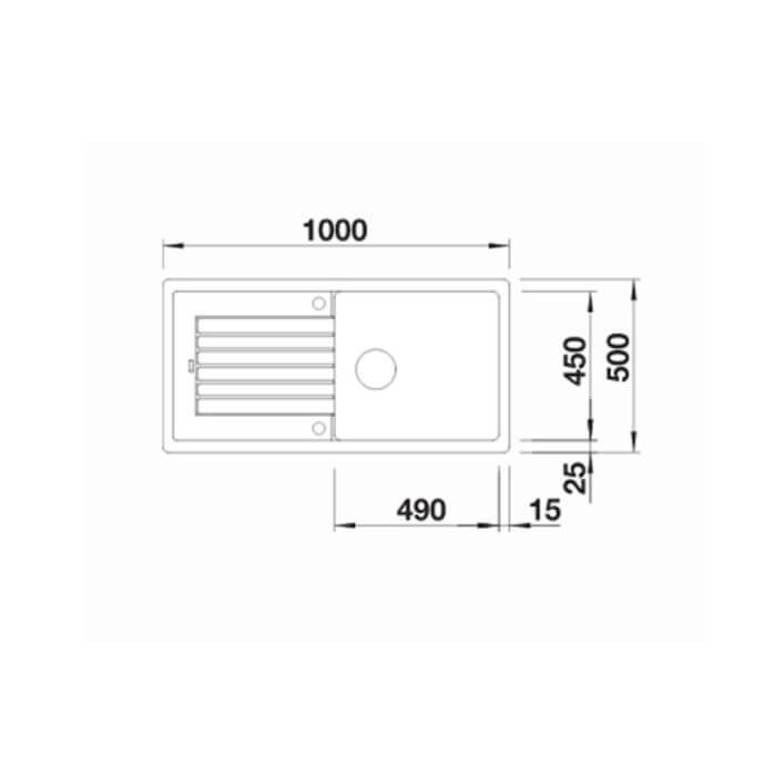 BLANCO ΓΡΑΝΙΤΕΝΙΟΣ ΝΕΡΟΧΥΤΗΣ ΕΝΘΕΤΟΣ ΑΝΤΙΣΤΡΕΦΟΜΕΝΟΣ ZIA XL 6 S SILGRANIT PURADUR NUTMEG (100x50) 4