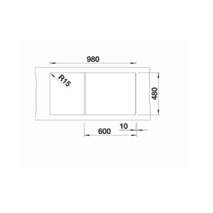 BLANCO ΓΡΑΝΙΤΕΝΙΟΣ ΝΕΡΟΧΥΤΗΣ ΕΝΘΕΤΟΣ ΑΝΤΙΣΤΡΕΦΟΜΕΝΟΣ ZIA XL 6 S SILGRANIT PURADUR NUTMEG (100x50) 5