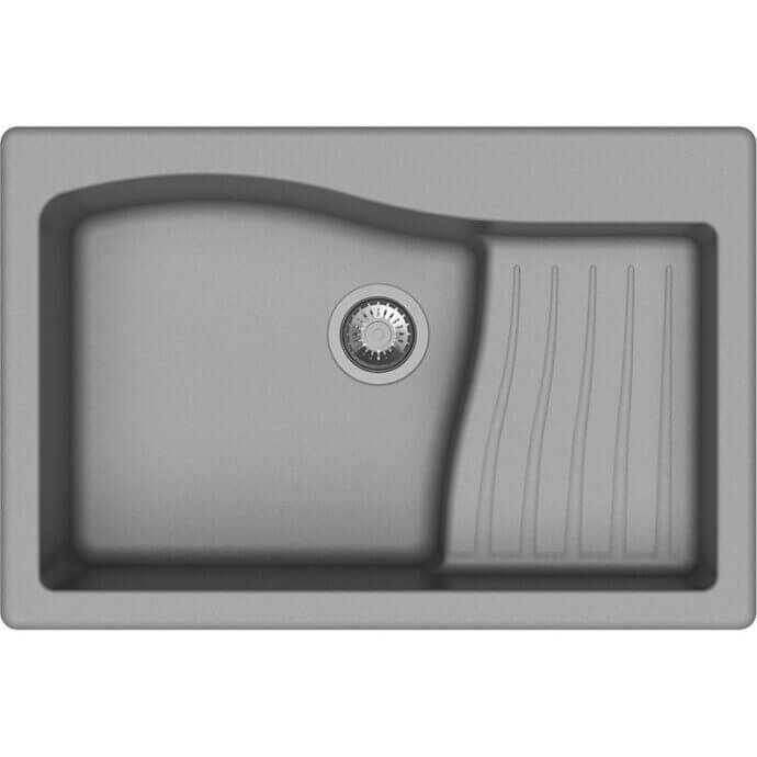 MACART ΓΡΑΝΙΤΕΝΙΟΣ ΝΕΡΟΧΥΤΗΣ ΕΝΘΕΤΟΣ MULTISPACE CROMA (ΓΚΡΙ) 86x50cm 1