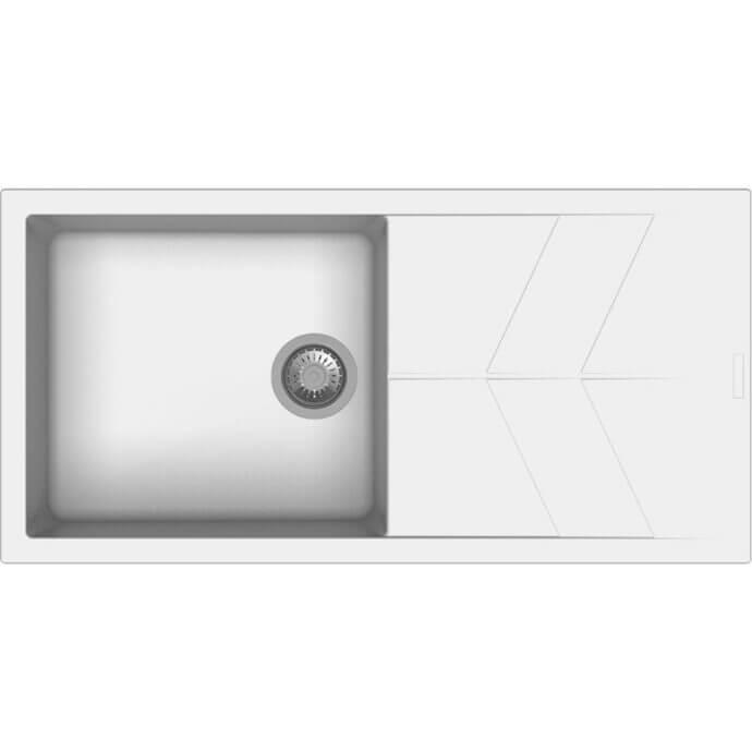 MACART ΓΡΑΝΙΤΕΝΙΟΣ ΝΕΡΟΧΥΤΗΣ ΕΝΘΕΤΟΣ STATUS D-100 L ALASKA (ΖΑΧΑΡΙ) 100x50cm 1