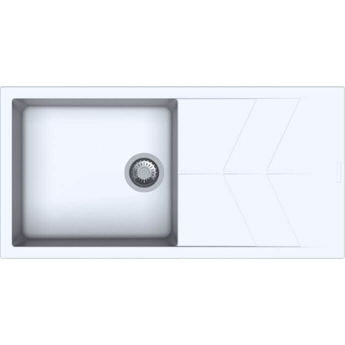 MACART ΓΡΑΝΙΤΕΝΙΟΣ ΝΕΡΟΧΥΤΗΣ ΕΝΘΕΤΟΣ STATUS D-100 L ALUMINA (ΓΚΡΙ ΑΝΟΙΧΤΟ) 100x50cm 1