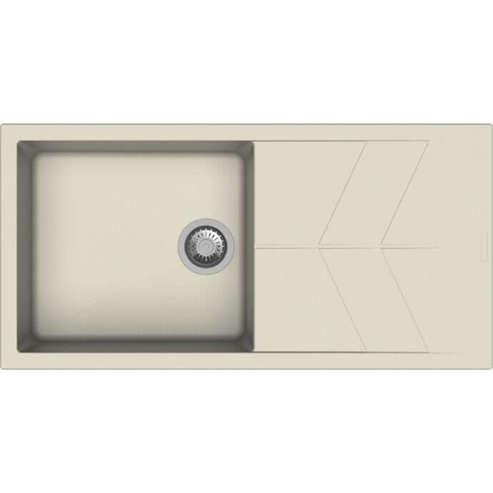 MACART ΓΡΑΝΙΤΕΝΙΟΣ ΝΕΡΟΧΥΤΗΣ ΕΝΘΕΤΟΣ STATUS D-100 L COLORADO (ΕΚΡΟΥ) 100x50cm 1