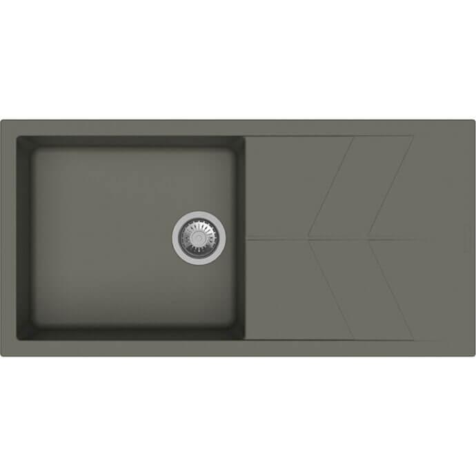 MACART ΓΡΑΝΙΤΕΝΙΟΣ ΝΕΡΟΧΥΤΗΣ ΕΝΘΕΤΟΣ STATUS D-100 L PEARL (ΓΚΡΙ ΜΠΕΖ) 100x50cm 1