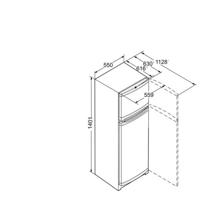 LIEBHERR ΨΥΓΕΙΟΚΑΤΑΨΥΚΤΗΣ CTPel 231 SMARTFROST (140,1x55) 7