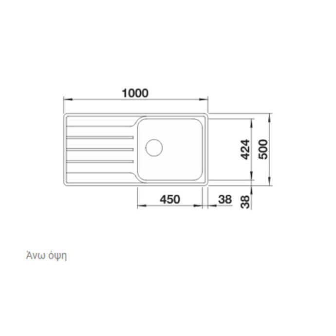 BLANCO ΑΝΟΞΕΙΔΩΤΟΣ ΝΕΡΟΧΥΤΗΣ ΕΝΘΕΤΟΣ LEMIS XL 6 S-IF ΛΕΙΟΣ (100x50) 3