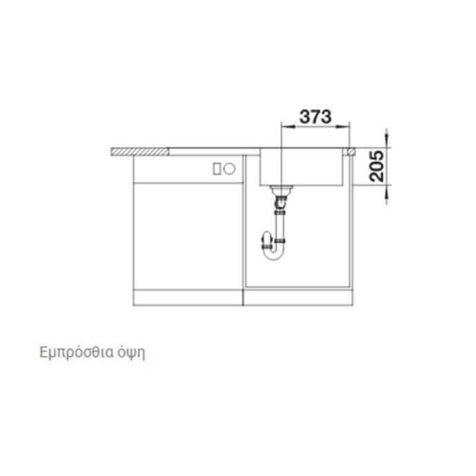BLANCO ΑΝΟΞΕΙΔΩΤΟΣ ΝΕΡΟΧΥΤΗΣ ΕΝΘΕΤΟΣ LEMIS XL 6 S-IF ΛΕΙΟΣ (100x50) 5