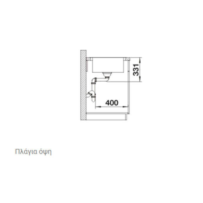 BLANCO ΑΝΟΞΕΙΔΩΤΟΣ ΝΕΡΟΧΥΤΗΣ ΕΝΘΕΤΟΣ LEMIS XL 6 S-IF ΛΕΙΟΣ (100x50) 6