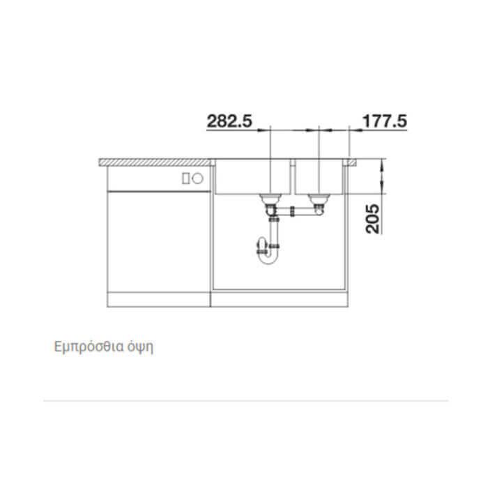 BLANCO ΑΝΟΞΕΙΔΩΤΟΣ ΝΕΡΟΧΥΤΗΣ ΕΝΘΕΤΟΣ LEMIS XL 8-IF ΛΕΙΟΣ (82x50) 5