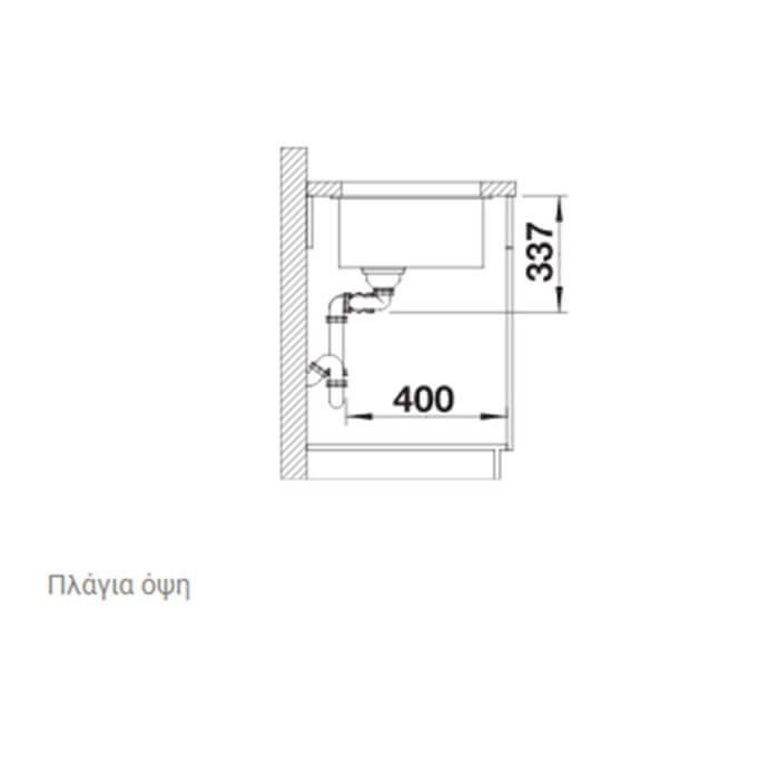 BLANCO ΓΡΑΝΙΤΕΝΙΟΣ ΝΕΡΟΧΥΤΗΣ ΥΠΟΚΑΘΗΜΕΝΟΣ SUBLINE 480/320-U SILGRANIT PURADUR CHAMPAGNE (85,5x46) 7