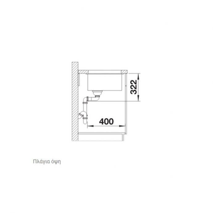 BLANCO ΓΡΑΝΙΤΕΝΙΟΣ ΝΕΡΟΧΥΤΗΣ ΥΠΟΚΑΘΗΜΕΝΟΣ SUBLINE 700-U LEVEL SILGRANIT PURADUR ANTHRACITE (73x46) 7