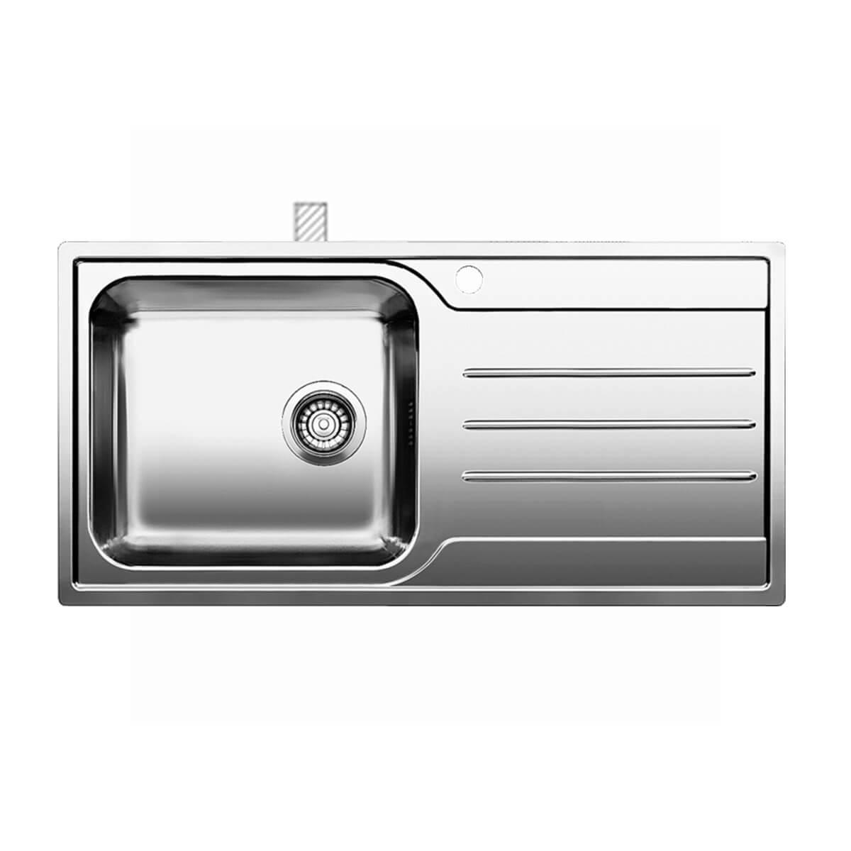 BLANCO ΑΝΟΞΕΙΔΩΤΟΣ ΝΕΡΟΧΥΤΗΣ ΕΝΘΕΤΟΣ MEDIAN XL 6 S-IF ΛΕΙΟΣ ΓΟΥΡΝΑ ΑΡΙΣΤΕΡΑ (100x50) 1