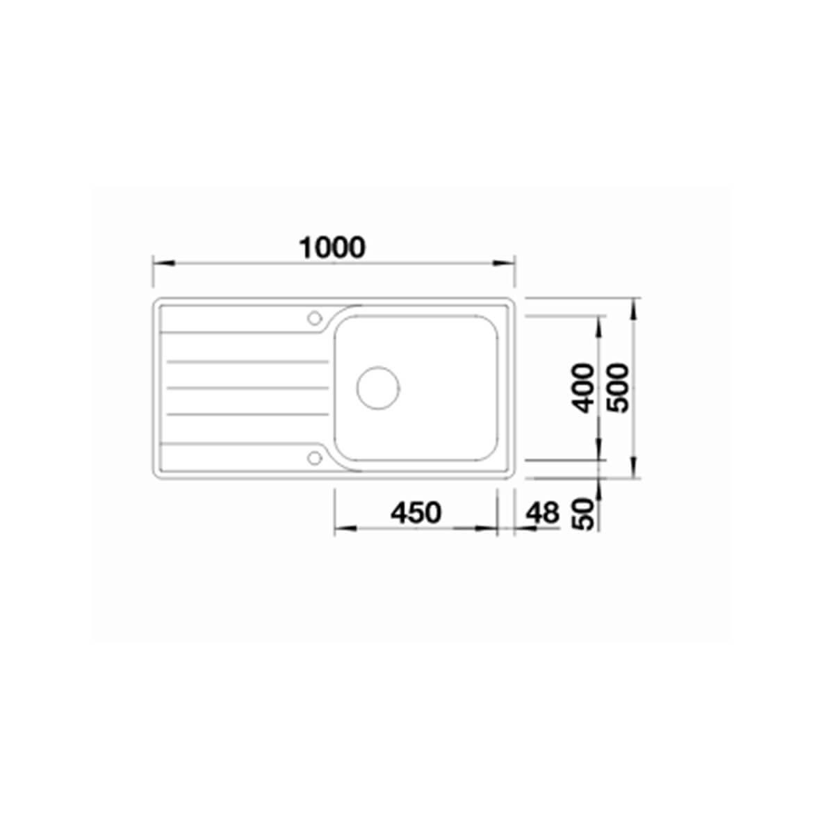 BLANCO ΑΝΟΞΕΙΔΩΤΟΣ ΝΕΡΟΧΥΤΗΣ ΕΝΘΕΤΟΣ MEDIAN XL 6 S-IF ΛΕΙΟΣ ΓΟΥΡΝΑ ΔΕΞΙΑ (100x50) 3