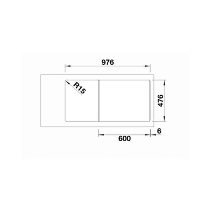 BLANCO ΑΝΟΞΕΙΔΩΤΟΣ ΝΕΡΟΧΥΤΗΣ ΕΝΘΕΤΟΣ MEDIAN XL 6 S-IF ΛΕΙΟΣ ΓΟΥΡΝΑ ΔΕΞΙΑ (100x50) 4
