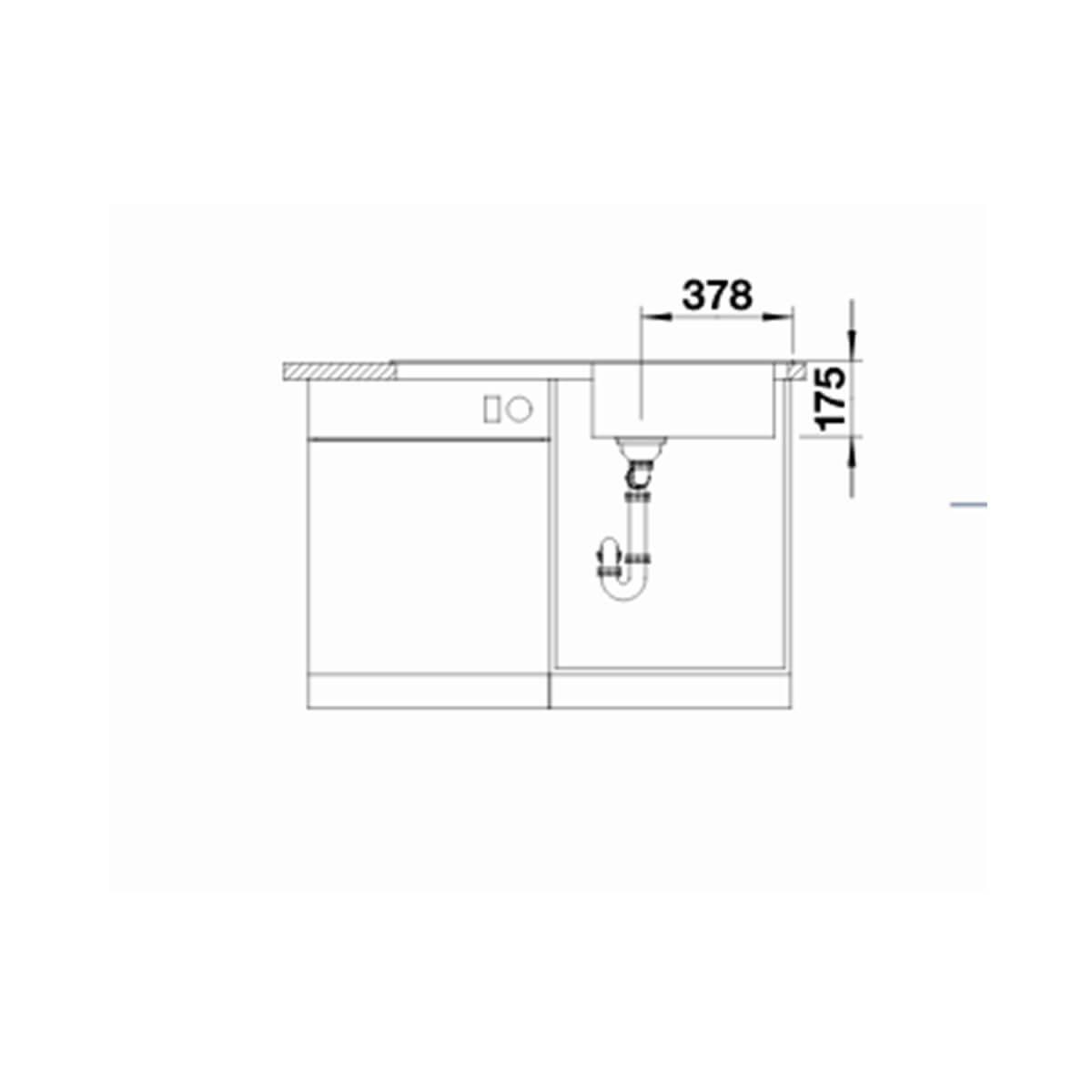 BLANCO ΑΝΟΞΕΙΔΩΤΟΣ ΝΕΡΟΧΥΤΗΣ ΕΝΘΕΤΟΣ MEDIAN XL 6 S-IF ΛΕΙΟΣ ΓΟΥΡΝΑ ΔΕΞΙΑ (100x50) 5