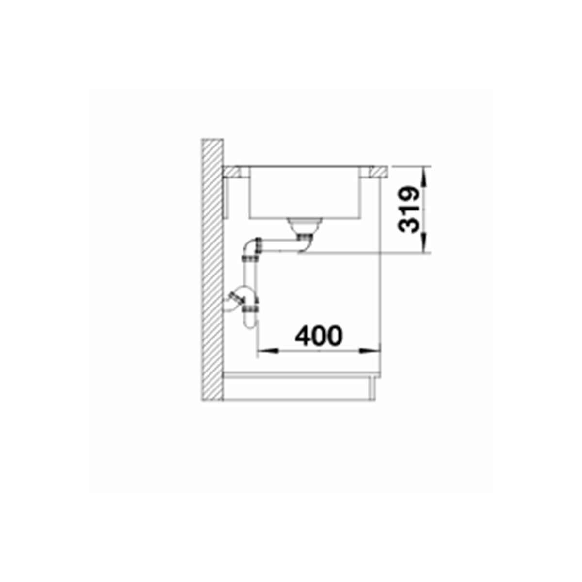 BLANCO ΑΝΟΞΕΙΔΩΤΟΣ ΝΕΡΟΧΥΤΗΣ ΕΝΘΕΤΟΣ MEDIAN XL 6 S-IF ΛΕΙΟΣ ΓΟΥΡΝΑ ΔΕΞΙΑ (100x50) 6