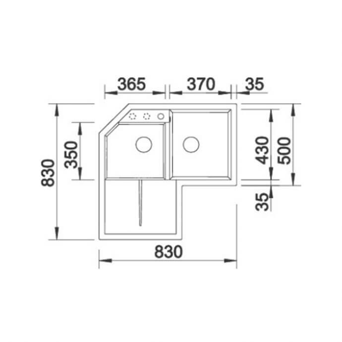 BLANCO ΓΡΑΝΙΤΕΝΙΟΣ ΝΕΡΟΧΥΤΗΣ ΕΝΘΕΤΟΣ METRA 9 E SILGRANIT PURADUR TARTUFO (83,5x83,5) 4