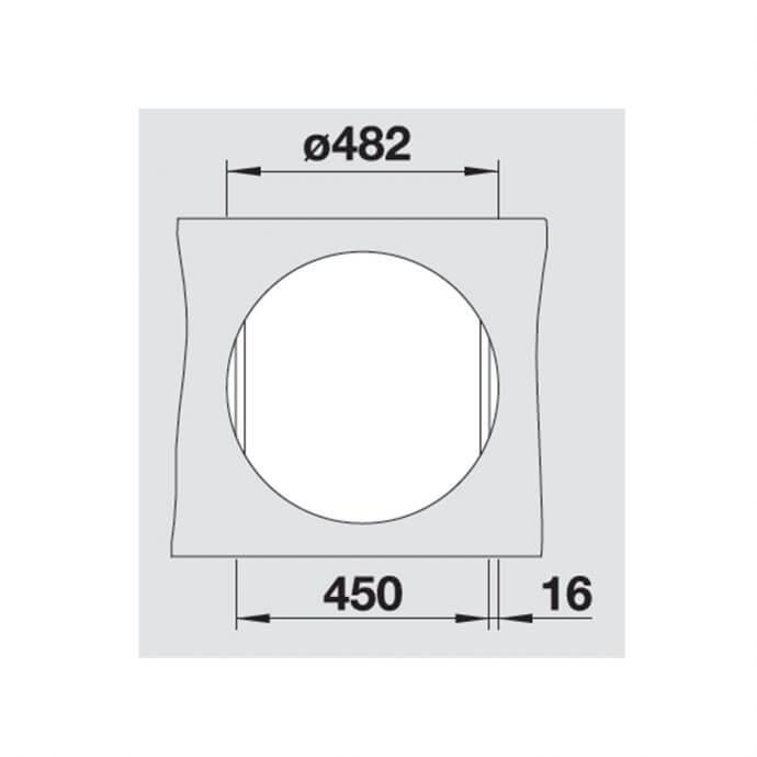 BLANCO ΓΡΑΝΙΤΕΝΙΟΣ ΝΕΡΟΧΥΤΗΣ ΕΝΘΕΤΟΣ RIONA 45 SILGRANIT WHITE (Φ50) 5