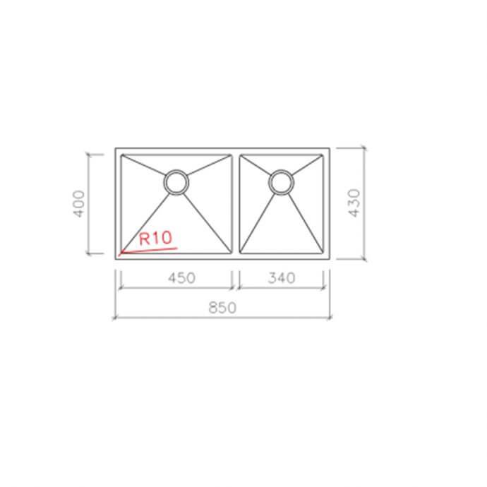 MACART ΑΝΟΞΕΙΔΩΤΟΣ ΝΕΡΟΧΥΤΗΣ ΥΠΟΕΝΘΕΤΟΣ STAR/10 U-200 ΛΕΙΟΣ (85x43) 3