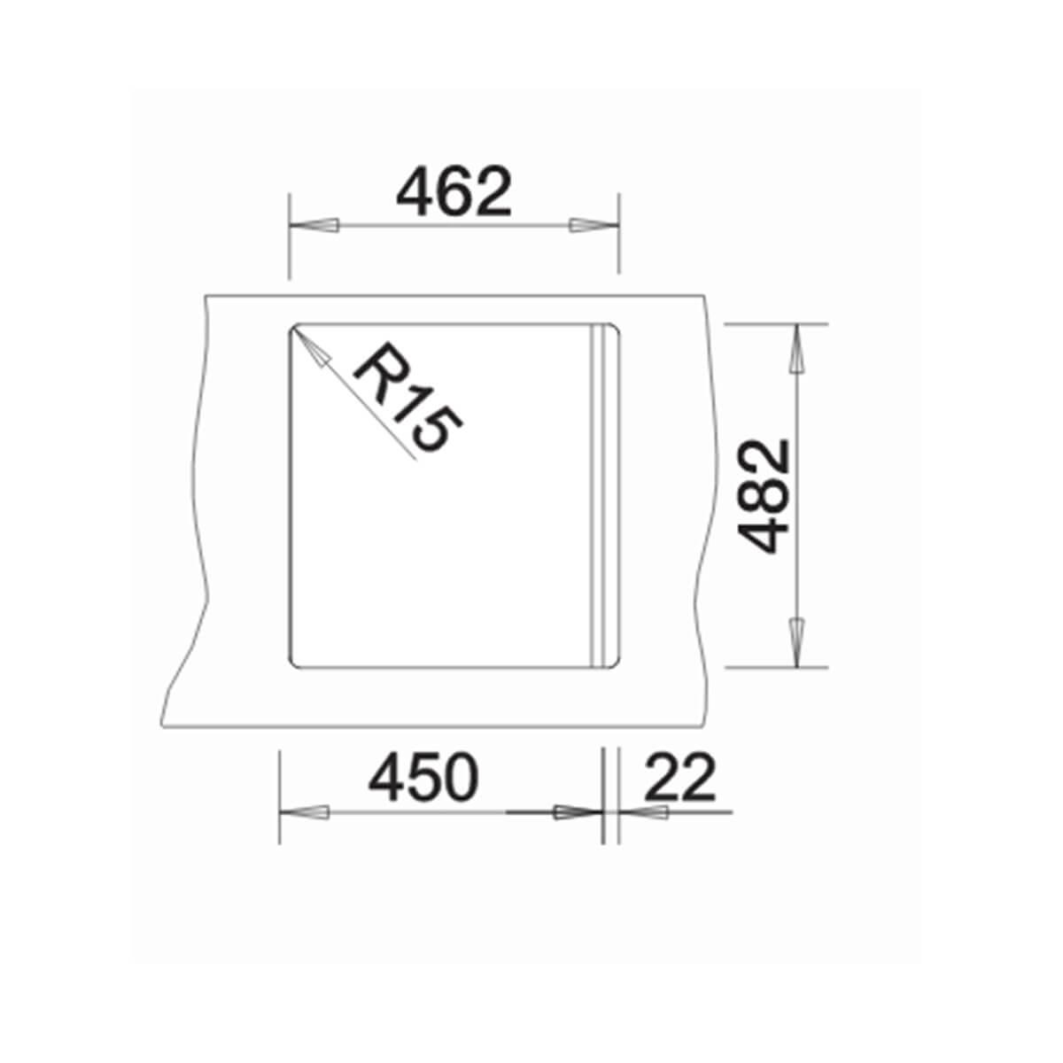 BLANCO ΑΝΟΞΕΙΔΩΤΟΣ ΝΕΡΟΧΥΤΗΣ ΕΝΘΕΤΟΣ TIPO 45 ΛΕΙΟΣ (48x50) 6