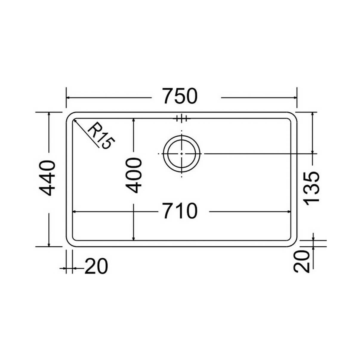 APELL ΥΠΟΚΑΘΗΜΕΝΟΣ ΝΕΡΟΧΥΤΗΣ METAMORFOSIS MEM71-410 PVD ΜΑΥΡΟ (75x44) 3